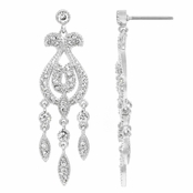 Columbia's CZ Art Deco Dangle Earrings