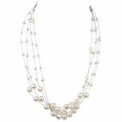 Cormia's Ivory Freshwater Cultured Pearl Necklace - 18 inches