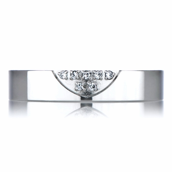 CZ Couple Rings - Bottom Heart 4mm
