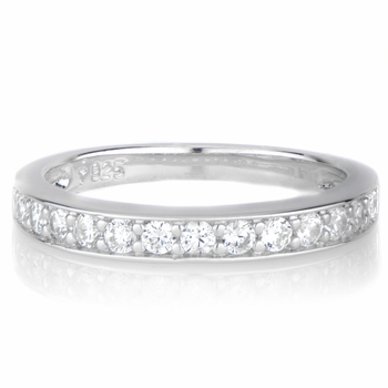 Marinel's CZ Silvertone Ring Guard