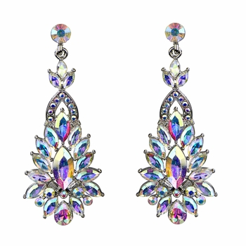 Dakarai's Marquise Crystal Rhinestone Cluster Statement Evening Earrings