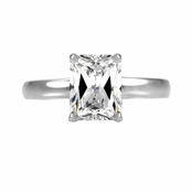 Damali's 1.0 ct Emerald Cut CZ Engagement Ring