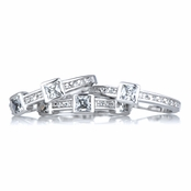 Danielle's Stackable Three Band CZ Ring Set