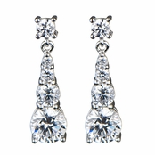 Danya's Graduated CZ Fancy Dangle Earrings