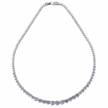 Danya's Graduated CZ Tennis Necklace - 16 inches
