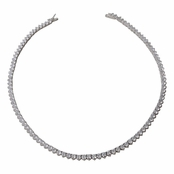 Elegant 4mm CZ Tennis Necklace - 17 inches