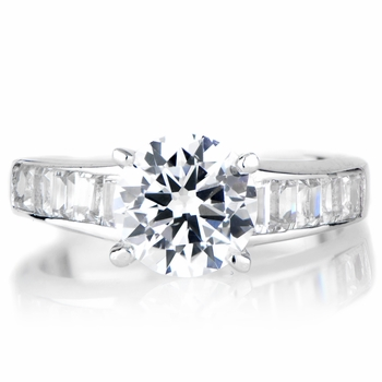 Dao's Round Cut CZ Promise Ring