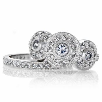 darlas vintage wedding ring set