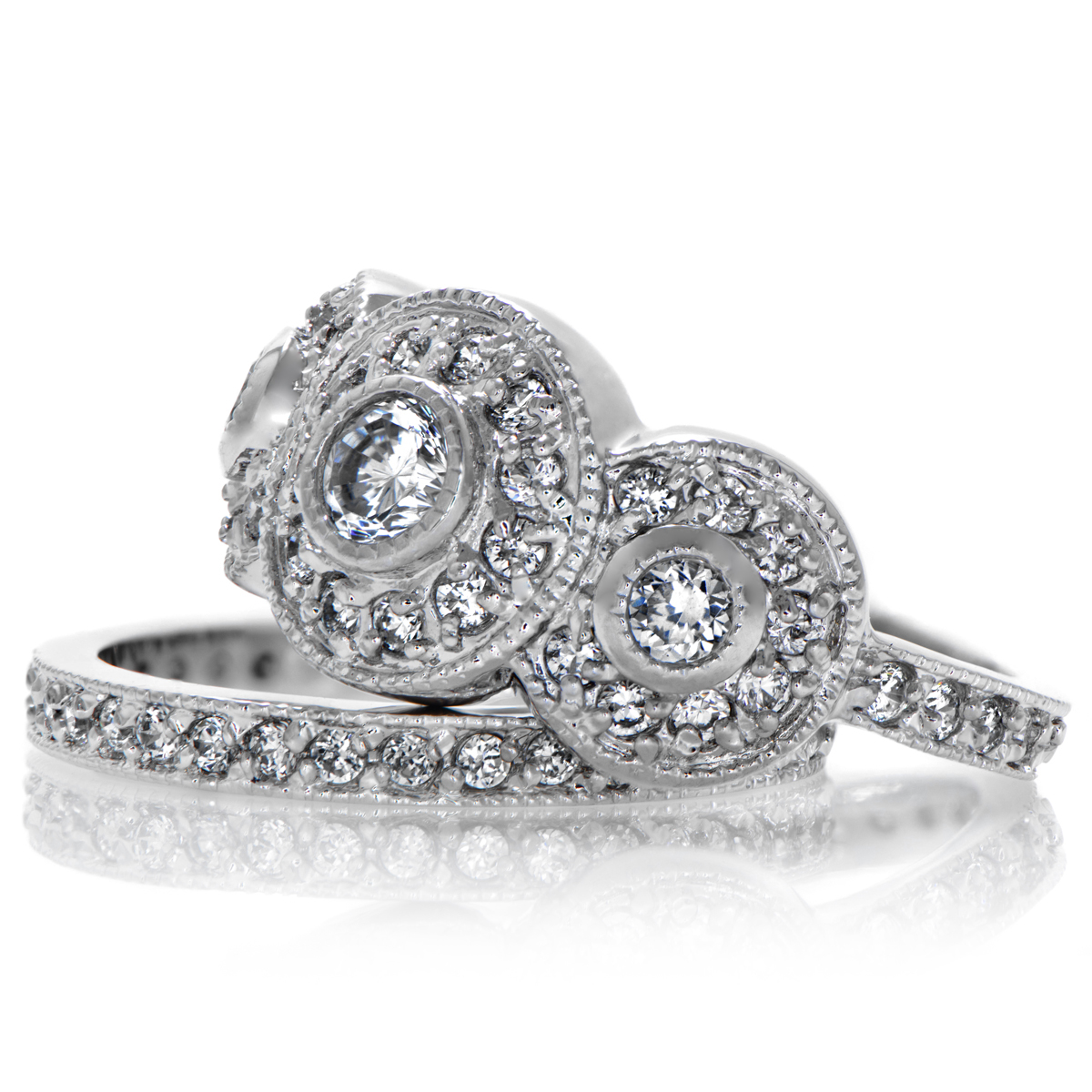 Classic wedding ring sets inspirational navokalcom for Vintage wedding rings sets