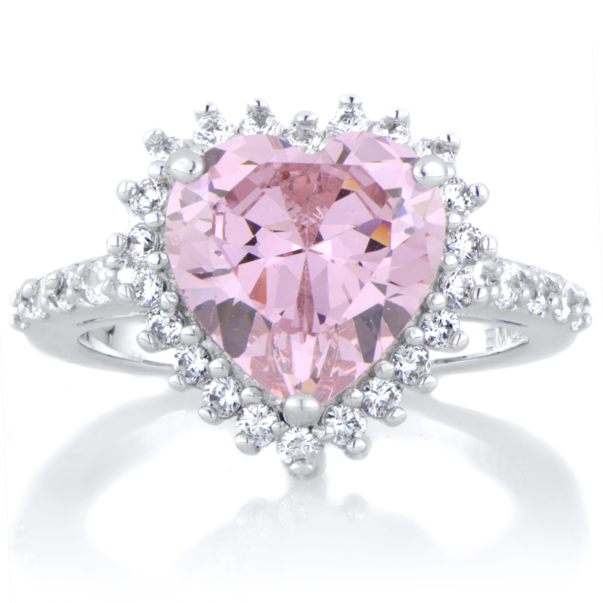 Darling's Pink Heart Shaped Engagement Ring Roll Off Image To Close Zoom  Window