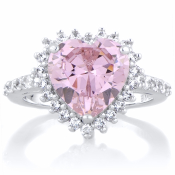 Darling's Pink Heart Shaped Engagement Ring