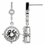 Decker's Alluring Round Cut CZ Earrings