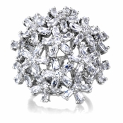 Delaney's CZ Multi-Flower Cocktail Ring