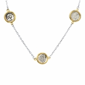 Delia's 44 Inch Layered Coin Charm Necklace