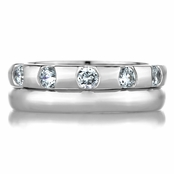 Delmarie's Two Piece Eternity Ring Set