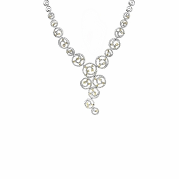 Destiny's Champagne CZ Swirl Necklace