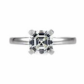 Detty's 1.5 CT Asscher Cut CZ Solitaire Ring