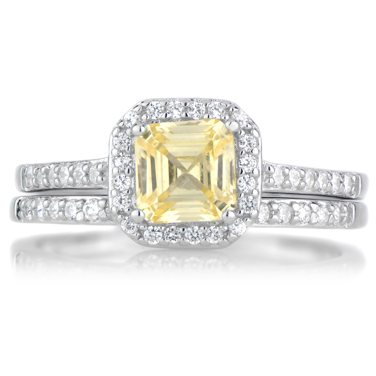 cz wedding ring set roll off image to close zoom window - Cubic Zirconia Wedding Ring Sets