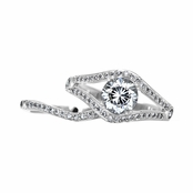 Dina's Vintage Style Round Cut CZ Wedding Ring Set