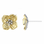 Dogwood's Goldtone Flower Earrings