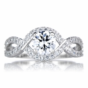 Dorothea's Round Cut Twisted Band CZ Engagement Ring