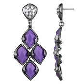 Drita's Gunmetal Purple Chandelier Earrings