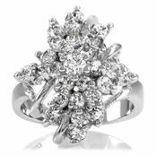 Dyani's Clear Cluster CZ Flower Ring