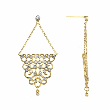 Eleanor's Goldtone Chandelier Earrings