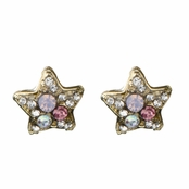Emely's Pink Crystal Star Stud Earrings
