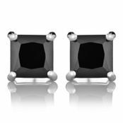 Emery's Black CZ Square Cut Stud Earrings
