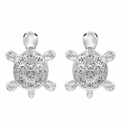 Emiko's CZ Turtle Stud Earrings