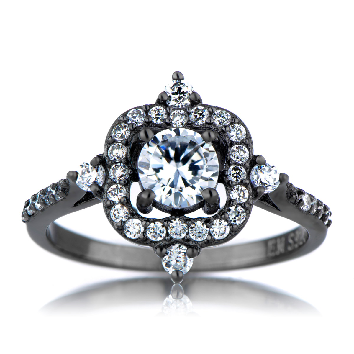 Vintage Looking Engagement Ring - Passion Porn