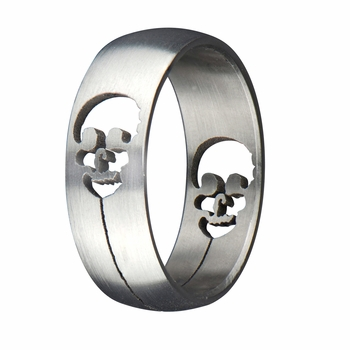 Emmett's Stainless Steel Men's Skull Ring
