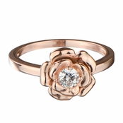 Esmerelda's Rose Gold Flower CZ Ring