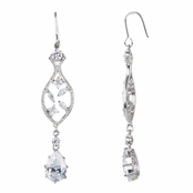 Evangeline's CZ Pear Drop Earrings