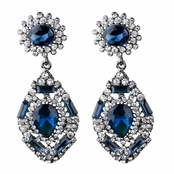 Evara's Fancy Antique Sapphire CZ Dangle Earrings