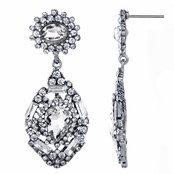 Evara's Fancy Antique Rhinestone Dangle Earrings