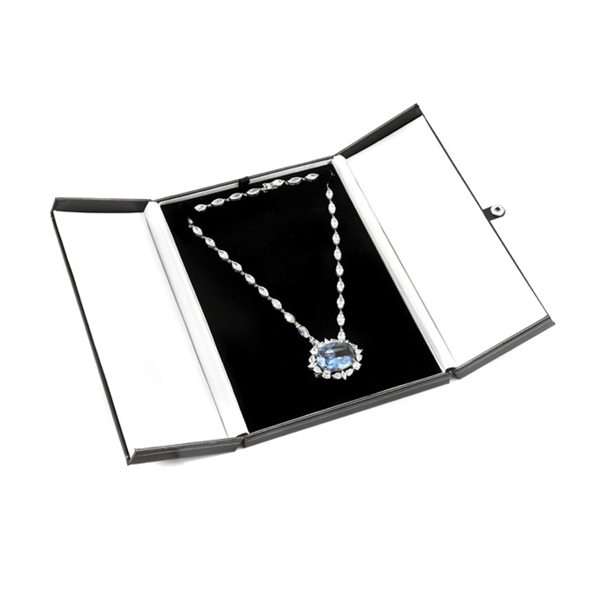 Necklace Jewelry Gift Box: Prestige Collection Black