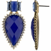Abelia's Blue CZ Fancy Pear Drop Earrings