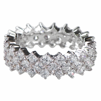 Farrah's Pave CZ Eternity Band Ring