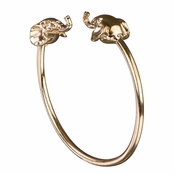 Faye's Gold Elephant Bangle Bracelet