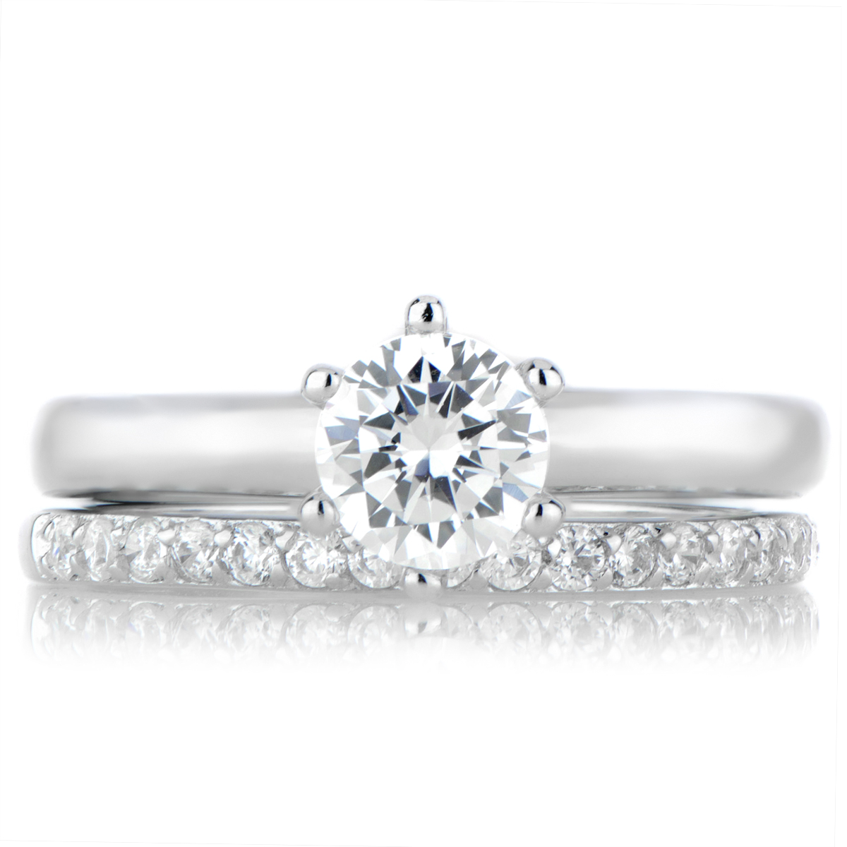 roll off image to close zoom window - Wedding Rings Set