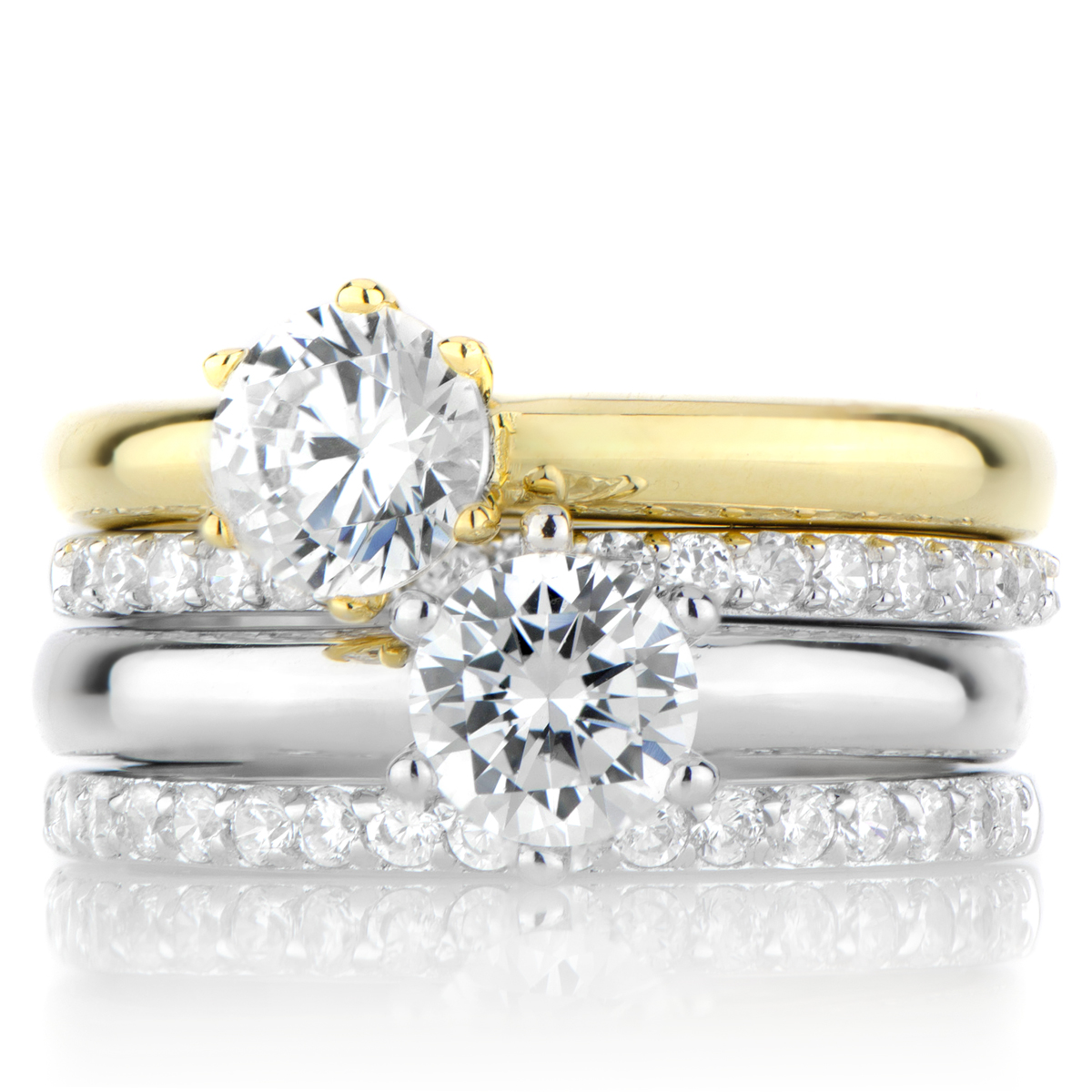 two tone wedding ring sets inexpensive navokalcom With two tone wedding ring sets
