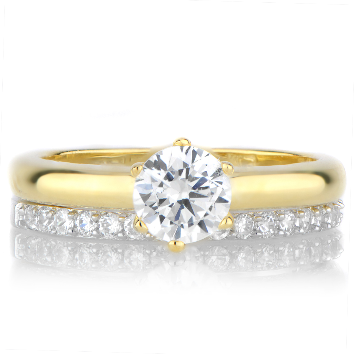 Two tone wedding ring sets inexpensive navokalcom for Two toned wedding ring sets