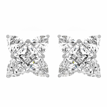 Gerda's Four Point CZ Stud Earrings