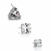 Gift Set: Men's Solitaire Stud Earring Trio