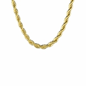 Goldtone Stainless Steel Rope Chain - 18 inches
