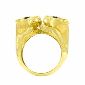 Goldtone Wildcat Ring