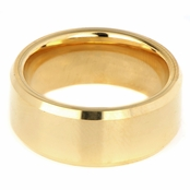 Gray's Plain Goldtone Tungsten Ring - 2.5MM