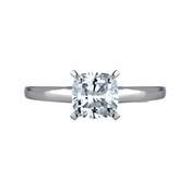 Gwyn's Cushion Cut Solitaire Engagement Ring - 1 Carat CZ
